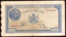 Rumanía 5.000 Lei PK 55 (28-9-1.943) MBC
