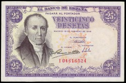 25 Pesetas 1946 A Flórez Estrada EBC+