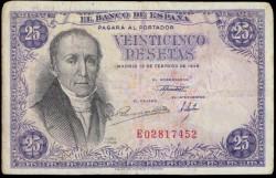 25 Pesetas 1946 A Flórez Estrada MBC