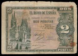 2 Pesetas 1938 Burgos. BC