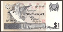 Singapur 1 Dólar Pk 9 (1.976) S/C