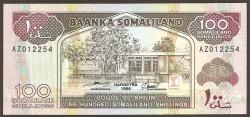 Somalilandia 100 Shillings PK 5b (1.996) S/C
