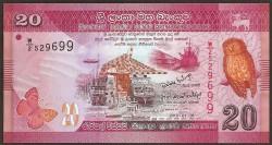 Sri Lanka 20 Rupias Pk 123 (1-1-2.010) S/C