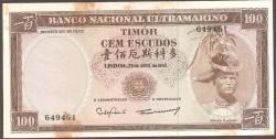 Timor 100 Escudos PK 28 (25-4-1.963) EBC+