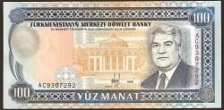 Turkmenistán 100 Manat Pk 6b (1.995) S/C