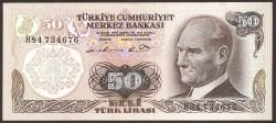 Turquía 50 Liras PK 188 (1.970) S/C