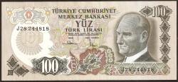 Turquía 100 Liras PK 189 (1.970) S/C