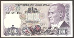Turquía 1.000 Liras PK 196 (1.986) S/C