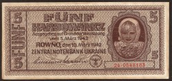 Ucrania 5 Karbowanez PK 51 (10-3-1.942) EBC+