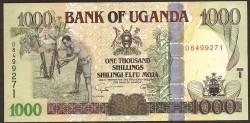 Uganda 1.000 Shillings PK 43c (2.009) S/C