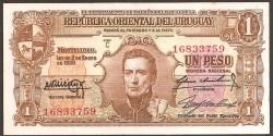 Uruguay 1 Peso PK 35c (Ley de 1.939) EBC