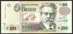 Uruguay 20 Pesos PK 86a (2.008) S/C