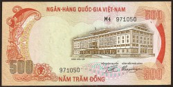 Vietnam del Sur 500 Dong PK 33a (1.972) EBC