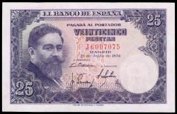 25 Pesetas 1954 Isaac Albéniz S/C-