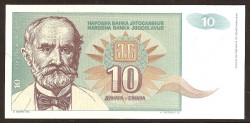 Yugoslavia 10 Dinares PK 138 (1.994) S/C
