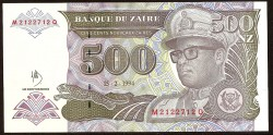 Zaire 500 Nuevos Zaires PK 63 (15-2-1.994) S/C
