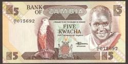 Zambia 5 Kwachas PK 25d (1.980-88) S/C
