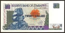 Zimbabwe 20 Dólares PK 7 (1.997) S/C
