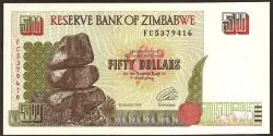 Zimbabwe 50 Dólares PK 8 (1.994) S/C
