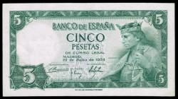5 Ptas 1954 Alfonso X El Sabio EBC-