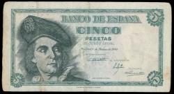 5 Ptas 1948 Juan Sebastián de Elcano MBC