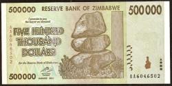 Zimbabwe 500.000 Dólares PK 76 (2.008) S/C