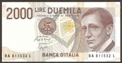 Italia 2.000 Liras PK 115 (3-10-1.990) S/C