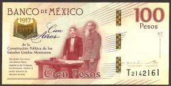 Méjico 100 Pesos PK Nuevo (25-1-2.016) S/C