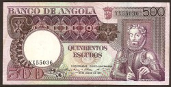 Angola 500 Escudos PK 107 (10-6-1.973) MBC+
