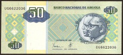 Angola 50 Kwanzas PK 146 (Octubre 1.999) S/C