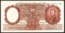 Argentina 100 Pesos PK 277 (1967-69) EBC