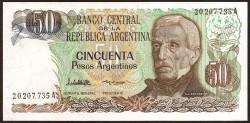 Argentina 50 Pesos PK 314 (1.983-1.985) S/C