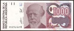 Argentina 1.000 Australes PK 329c (1.989) S/C