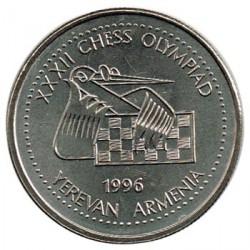 Armenia 1996 100 Som 32ª Olimpiada de Ajedrez S/C