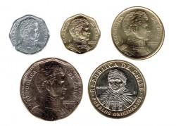 Chile 2006 Tira 5 valores (1,5,10,50 y 100 Pesos) S/C