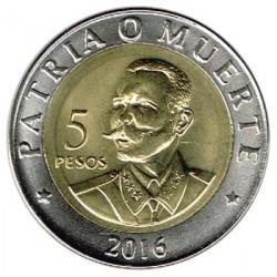 Cuba 2016 5 Pesos. Bimetálica (Antonio Maceo) S/C