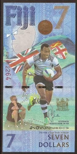 Fiji 7 Dólares PK Nuevo (2.016) S/C