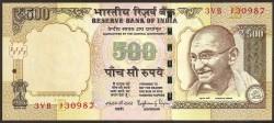 India 500 Rupias PK 106f (2.015) S/C