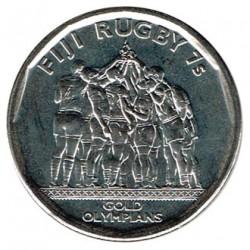 Fiji 2017 50 Centavos. Medalla de oro de Rugby 7 S/C