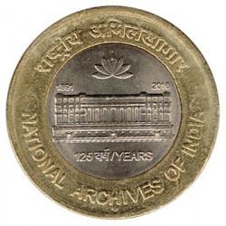 India 2016 10 Rupias (Archivo Nacional) S/C