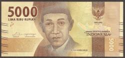 Indonesia 5.000 Rupias PK Nuevo (2.016) S/C