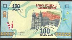 Madagascar 100 Ariary PK Nuevo (2.017) S/C