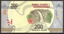 Madagascar 200 Ariary PK Nuevo (2.017) S/C