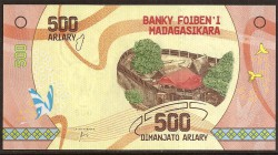 Madagascar 500 Ariary PK Nuevo (2.017) S/C