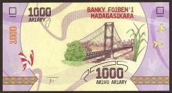 Madagascar 1.000 Ariary PK Nuevo (2.017) S/C