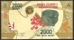 Madagascar 2.000 Ariary PK Nuevo (2.017) S/C