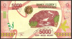 Madagascar 5.000 Ariary PK Nuevo (2.017) S/C