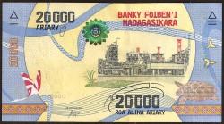Madagascar 20.000 Ariary PK Nuevo (2.017) S/C