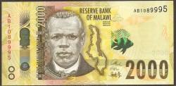 Malawi 2.000 Kwacha PK Nuevo (1-6-2.016) S/C
