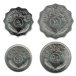 Irak 1969 - 1990 4 valores (5,10,25 y 50 Fils) S/C-